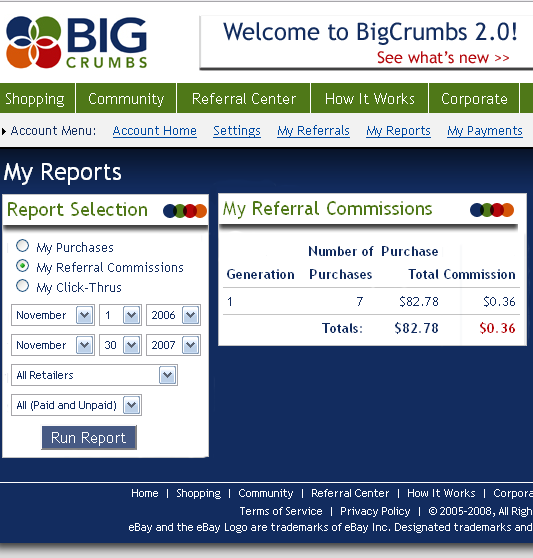 Big Crumbs referrals