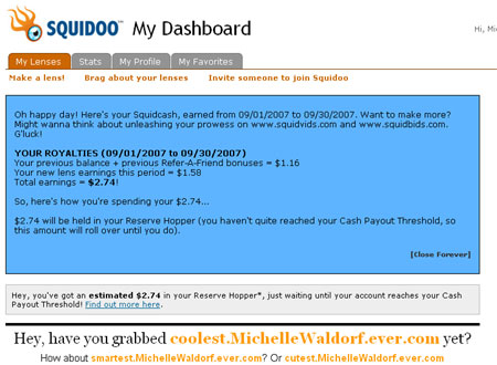 Squidoo royalties and payment page