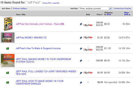 Jeff Paul book on eBay