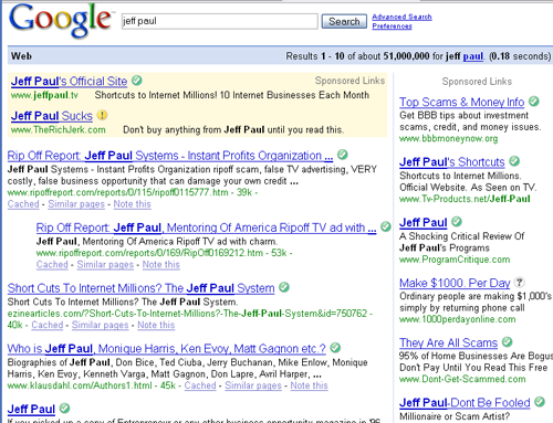 Jeff Paul googled